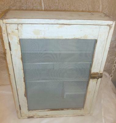 Antique Vtg Wood Medicine Cabinet Apothecary Shabby Chic Wall Cabinet Chippy