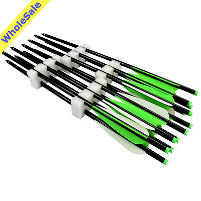 "100X 18"" Crossbow Bolts Aluminum Arrows Archery Target Hunting Outdoor Wholesale"