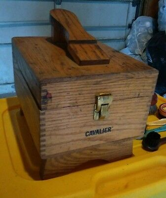 Vintage Cavalier Shoe Shine Wooden Box Kit w/ Accessories