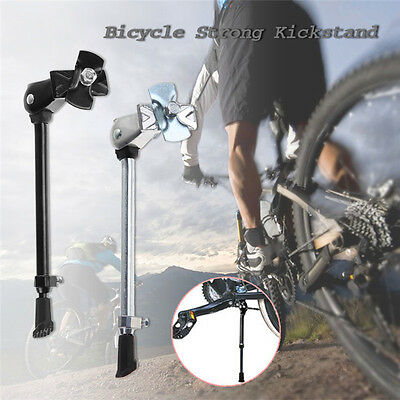 "Adjustable Aluminium Alloy Bike Bicycle Kickstand Side Stick Stand for 16""-27"""