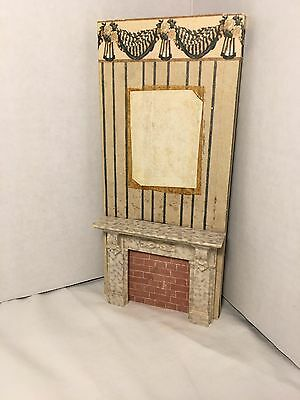Vintage Dollhouse Antique French Fireplace Mantel