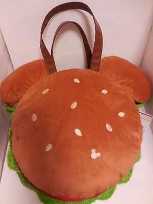 Tokyo Disney Resort Limited Mickey Mouse Hamburger Plush Tote bag  TDR