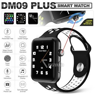 DM09 PLUS Black Smart Wrist Watch 2G GSM SIM Bluetooth 4.0 Phone for IOS Android