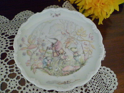 Royal Doulton The Wind In The Willows Rambling Wood  Plate  Made In England 1984