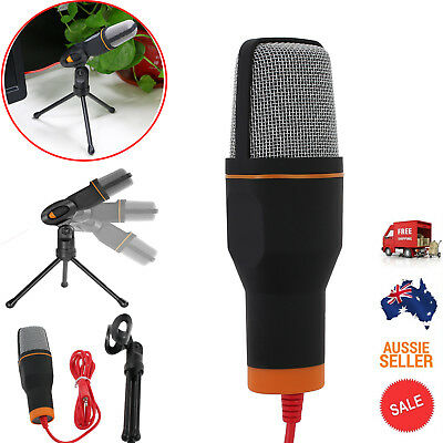 Professional  Studio Microphone Mic With Stand For Skype Desktop PC Tablet AU