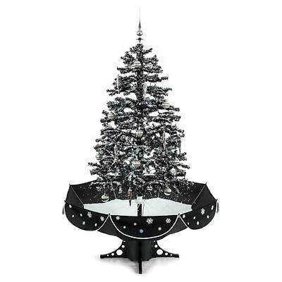 Artifical Snow Falling Christmas Tree Decoration Led Music Gift Celebrate
