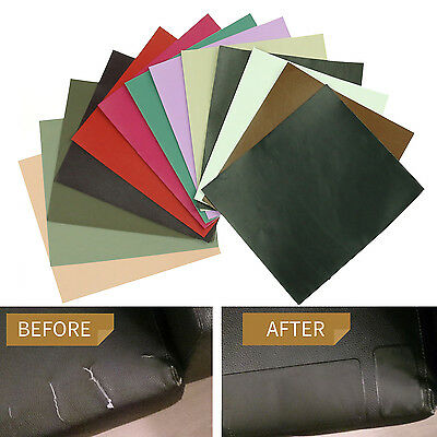 Sheep Leather Repair Patch & Vinyl Adhesive for Sofas Car Seats Handbags Jackets
