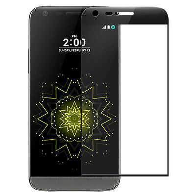 Film Screen Protector 9H HD Clear 3D For LG G5 Curved Full Cover Tempered Glass