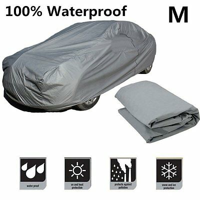 Medium Size Full Car Cover UV Protection Waterproof Outdoor Indoor Breathable NR