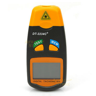 Digital LCD Laser Photo Tachometer RPM Tachometer Non-Contact Measuring Tool
