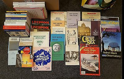 LOT of 47  LOCAL HISTORY BOOKS - LIVERPOOL WIRRAL MERSEYSIDE - half new/used