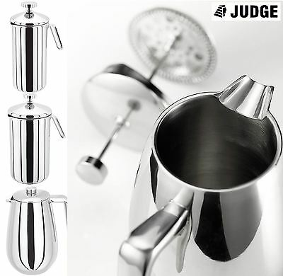 Judge Stainless Steel Cafetiere Single Or Double Wall Coffee Maker French Press