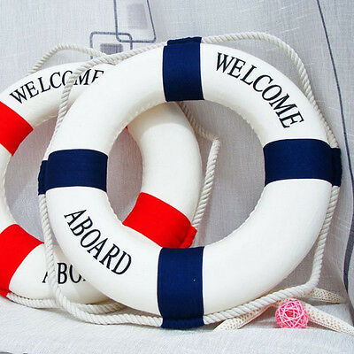 Wall Hangging Mediterranean Nautical Decor Boat Ring Life Buoy Preserver 14cm