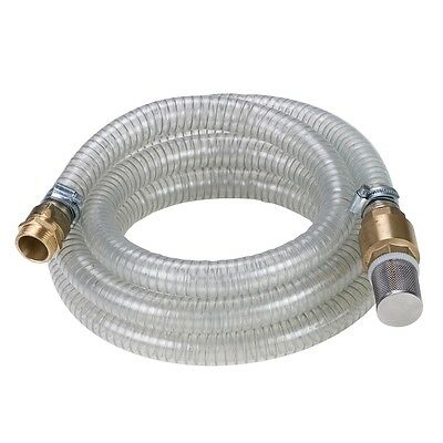Einhell Garden Water Pump Suction Hose Pipe 4 m with Brass Connectors 4173630
