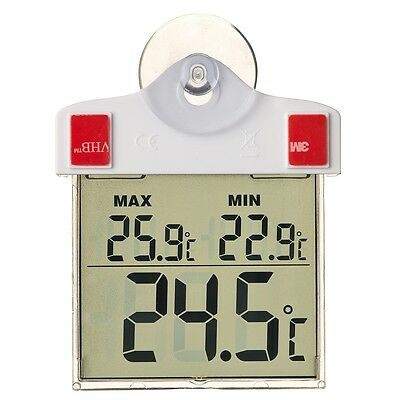 Nature Digital Window Thermometer Weather Station Temperature 13x10x3 cm 6080078