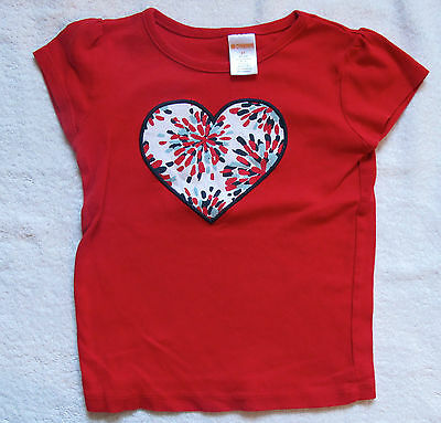Girls Toddler Gymboree red heart T shirt top size 3 years 3T