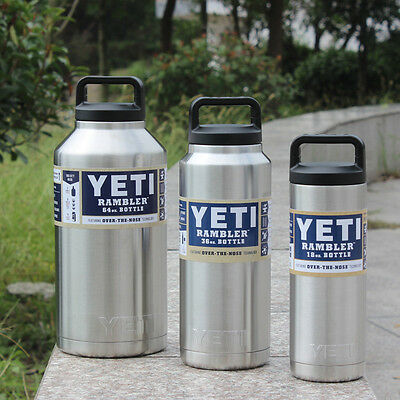 YETI 64oz Rambler Bottle  Stainless Steel Vacuum Insulated Thermal Tumbler