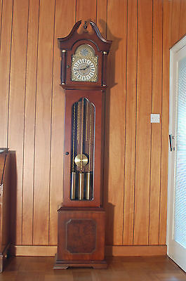 Cherry Wood Grandfather Clock with German  Westminster Chime Movement