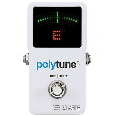 TC Electronic Polytune 3  Polyphonic Guitar Tuner with Bonafide Buffer