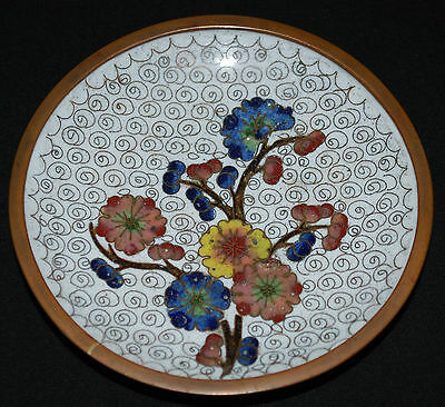 Vintage Oriental/Chinese Handcrafted Mini Cloisonne Dish/Plate (B1)