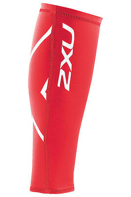 New 2Xu Unisex Compression Calf Guard Xlarge Xl Running Training Fitness Red