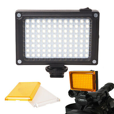 Youtube Pro LED Flash Light on Camera Adjustable Color for Canon Nikon Sony