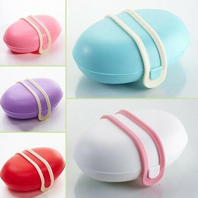 Home Bathroom Shower Travel Hiking Soap Box Dish Plate Holder Case Container UK