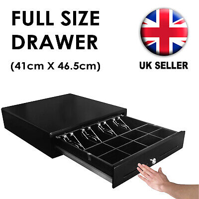 Heavy Duty Cash Drawer MANUAL PUSH OPEN Black 4 Note 8 Coin NOT ELECTRONIC