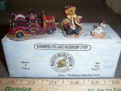 Boyds Bears Resin BOYDS TOWN VOLUNTEER FIRESTATION Bearly Built Accessory 195071