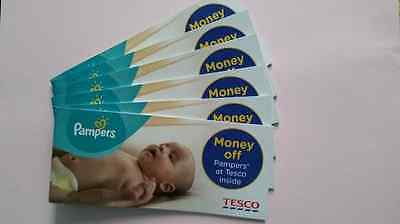 PAMPERS coupons/ money off Pampers Premium Protection at TESCO booklet worth £12