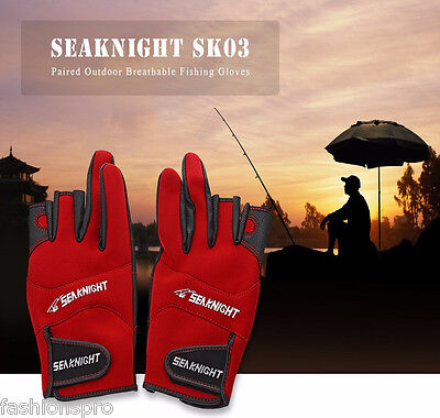 SeaKnight SK03 Outdoor Breathable Pair of Fishing Gloves Three-size