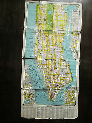 Antique folding map. USA. CITY PLAN OF NEW YORK