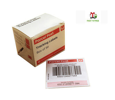 4 Boxes x 50 Australia Post Tracking Labels for Parcel - Free Express Delivery