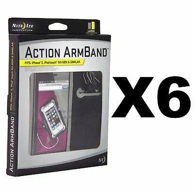 Nite Ize Action Armband Large w/S-Biner & Curvyman for Sports Running (6-Pack)