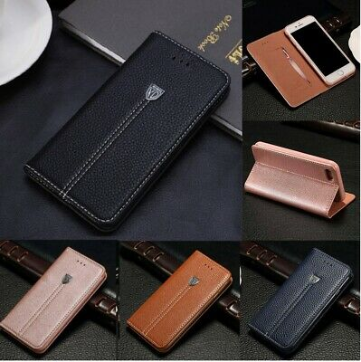 Luxury Magnetic Flip Cover Wallet Leather Case For Samsung Galaxy S7 S8 S9 Plus