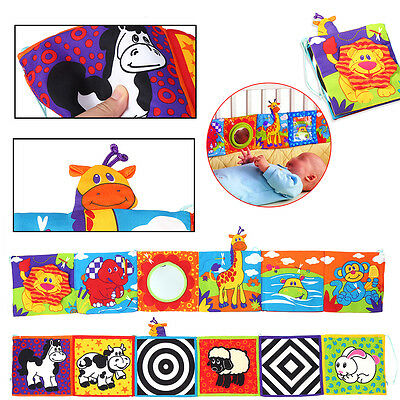 Intelligence Development Animal Cloth Bed Cognize Book Educational Kid Baby Toy