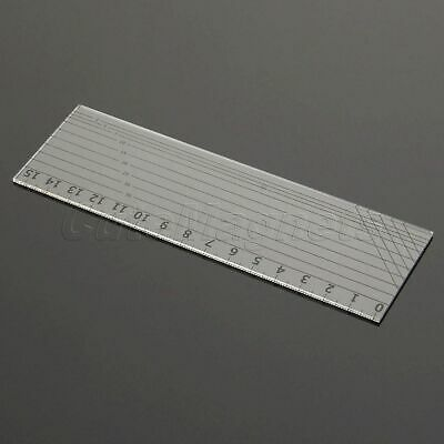 15*5cm Quilting Sewing Patchwork Ruler Grid Cutting Edge Tailor Scale Craft Tool