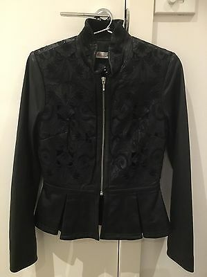 Gorgeous ALANNAH HILL Women's Black Leather Jacket size 10