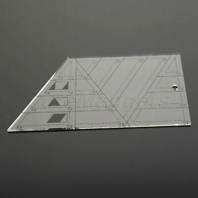 Sewing Quilting Patchwork Ruler Sew Easy Tailor Scale Trapezoid Triangle Diamond