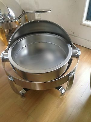 Round Chafing Dish With Gold Trimming