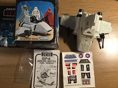 Star Wars Kenner ISP-6 Vehicle Boxed With Unused Sticker Sheet