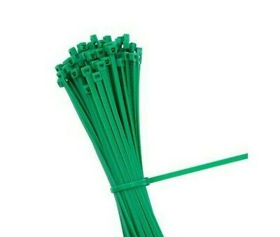 Strong Green Plastic Strong Nylon Garden Cable Ties Zip Wire Wrap Tidy.