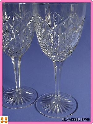 """FOUR ANTIQUES WATER GLASSES CRYSTAL BACCARAT PATTERN JUIGNE height 7""""1/8 1920s'"""