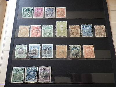 5x Timbres stamps BOLIVIE BOLIVIA 1867-1910 * Unused Yt 1 - 39 - 41 & Used