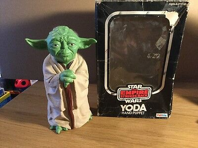 Original 1980 Boxed Star Wars Yoda Hand Puppet The Empire Strikes Back
