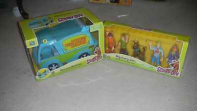 Scooby Doo The Mystery Machine Van + Figurine Set NEW Ages 3+ Thinkway Toys L@@K