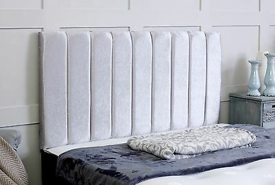 Portland *crushed Velvet Headboard* All Sizes & Various Colours  Free P&p