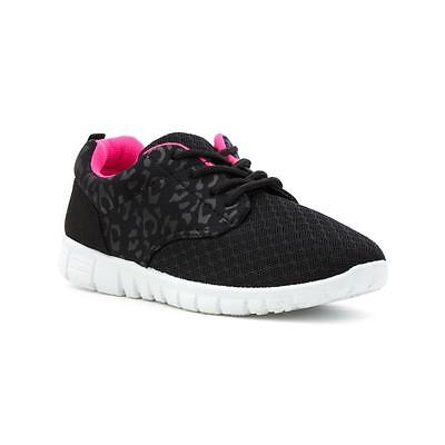 Lilley Girls Black Lace Up Lightweight Trainer - Sizes 8,9,10,11,12,13,1,2,3