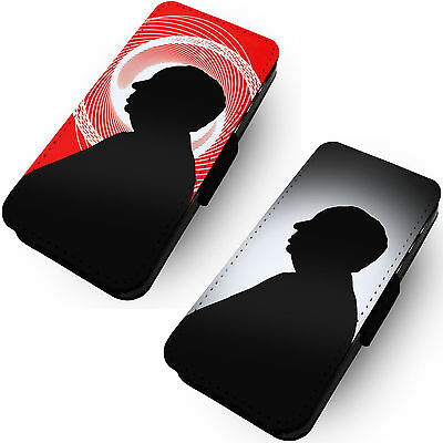Alfred Hitchcock Silhouette Designs Printed Faux Leather Flip Phone Cover #1