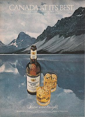 Vintage 1980 Canadian Mist Whiskey  print ad    Great to frame!